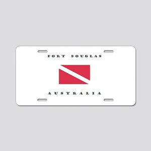 Port Douglas Australia Dive Aluminum License Plate