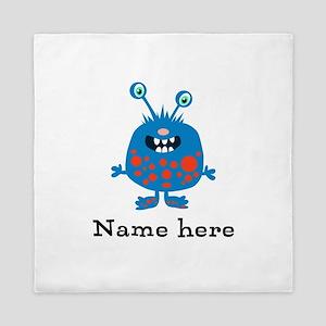 Blue Monster Queen Duvet