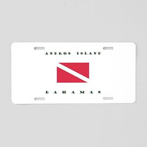 Andros Island Bahamas Dive Aluminum License Plate