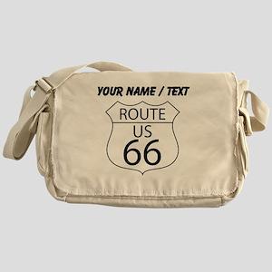 Custom U.S. Route 66 Sign Messenger Bag