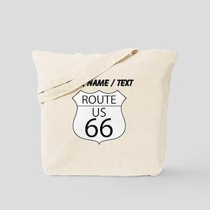 Custom U.S. Route 66 Sign Tote Bag