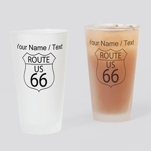 Custom U.S. Route 66 Sign Drinking Glass