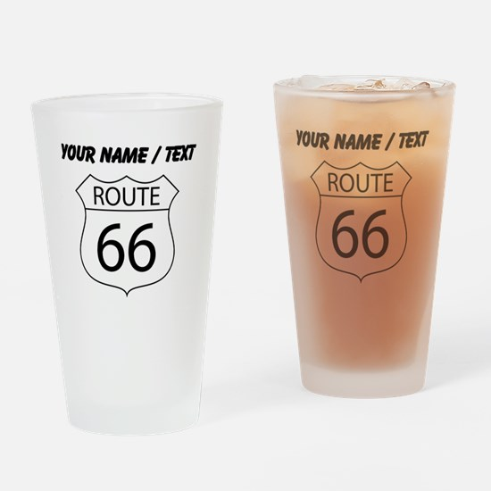Custom Route 66 Sign Drinking Glass