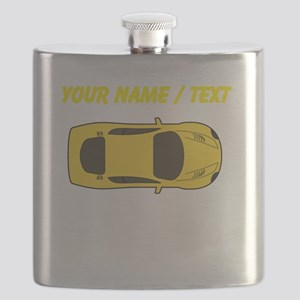 Custom Yellow Sports Car Flask