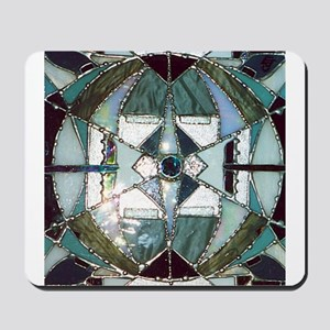 Abstract Mandala Stained Glass Mousepad