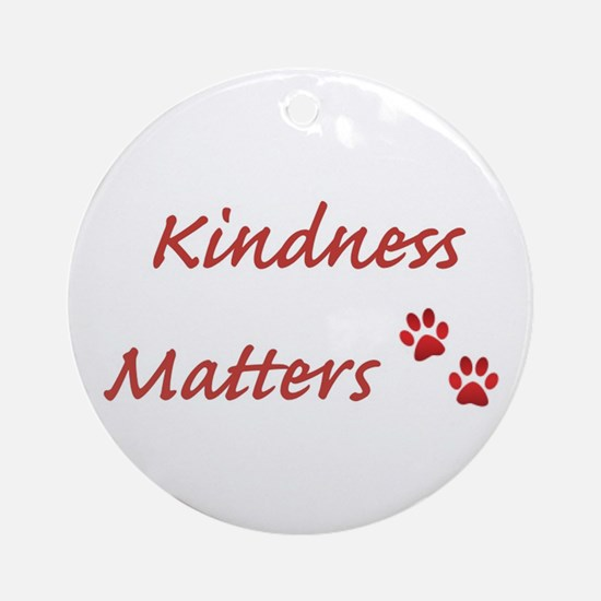 Kindness Matters Ornament (round)