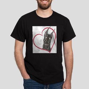 C Blk Heart Dark T-Shirt