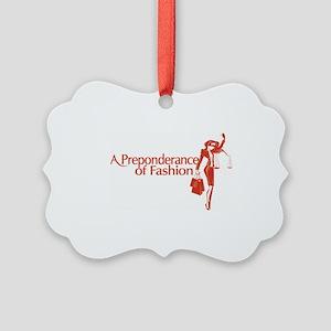 Fashion Law Blog Logo Picture Ornament