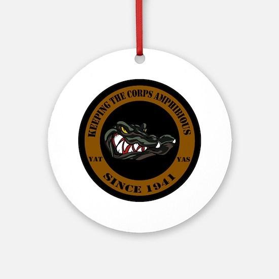 1941 Black Edition Camo Gator Round Ornament