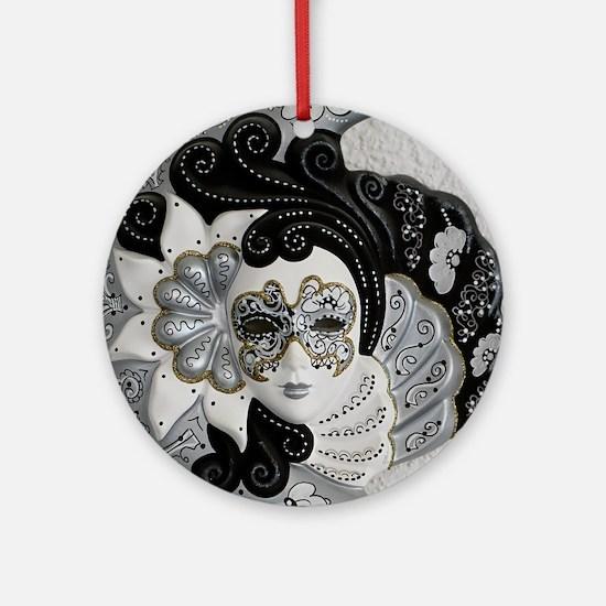 Venetian Mask Ornament (Round)