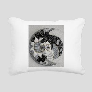 Venetian Mask Rectangular Canvas Pillow