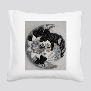 Venetian Mask Square Canvas Pillow
