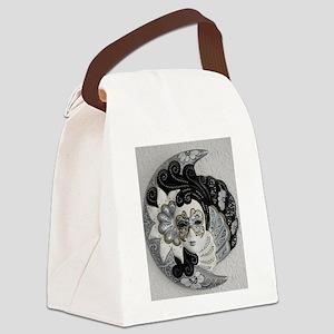 Venetian Mask Canvas Lunch Bag