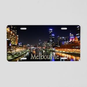 Melbourne City Light Yarra River Reflection Alumin