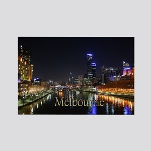 Melbourne City Light Yarra River Reflection Magnet