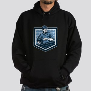 Brick Layer Mason Masonry Worker Retro Hoodie