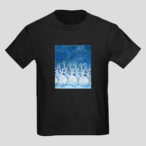 Dance of the Snowflakes Kids Dark T-Shirt