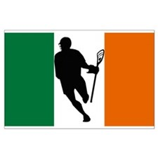 Lacrosse Flag IRock Ireland Posters