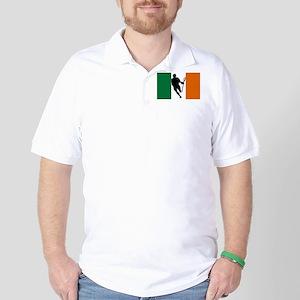 Lacrosse Flag IRock Ireland Golf Shirt