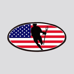 Lacrosse Flag IRock America Patches
