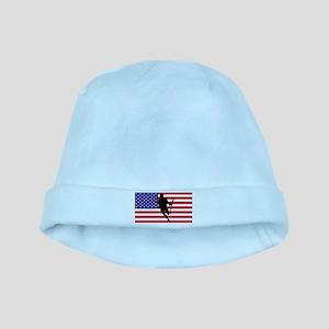 Lacrosse Flag IRock America baby hat