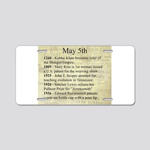 May 5th Aluminum License Plate