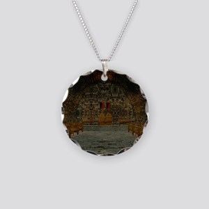 Medieval Tavern Necklace Circle Charm