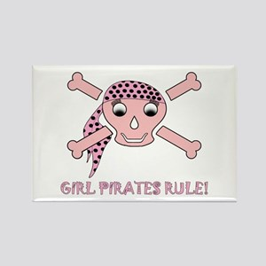 Xbones-Pink-8-Girl Pirates Rule! Magnets