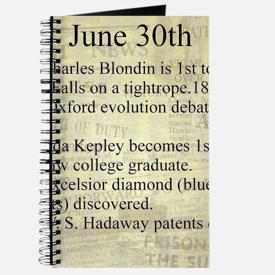 June 30th Journal