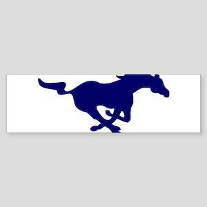 running mustang-blue Bumper Sticker