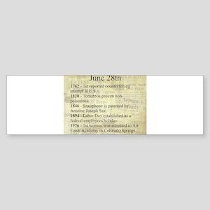 June 28th Bumper Sticker