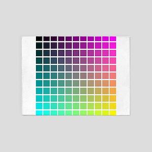 Color Grid 5'x7'Area Rug
