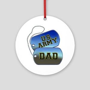 U.S. Army Dad Round Ornament