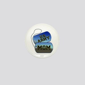 U.S. Army Mom Dog Tags Mini Button