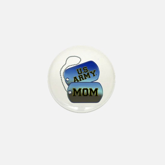U.S. Army Mom Dog Tags Mini Button