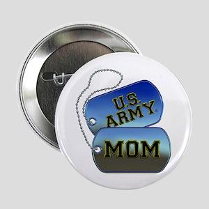 "U.S. Army Mom Dog Tags 2.25"" Button"