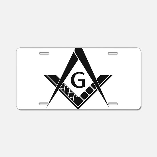 33 Roman Logo Aluminum License Plate