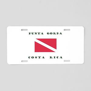 Punta Gorda Costa Rica Dive Aluminum License Plate