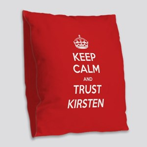 Trust Kirsten Burlap Throw Pillow