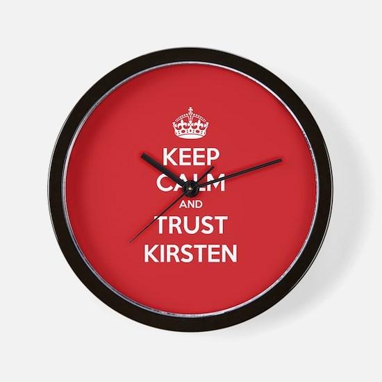 Trust Kirsten Wall Clock