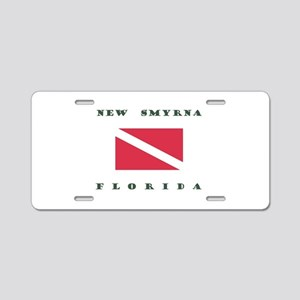 New Smyrna Beach Florida Dive Aluminum License Pla