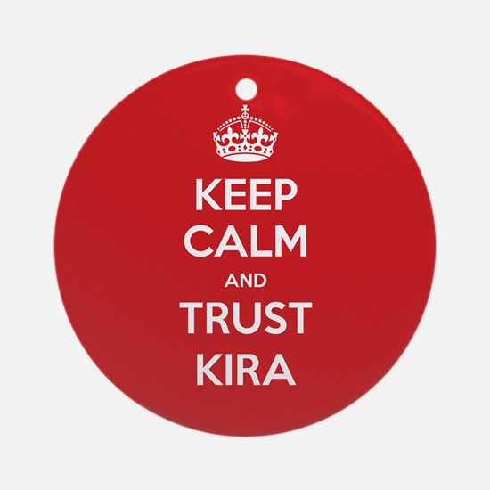 Trust Kira Ornament (Round)