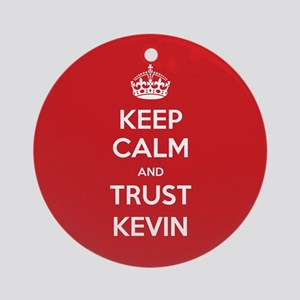 Trust Kevin Ornament (Round)