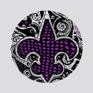 black and purple pillow (4) Ornament (Round)
