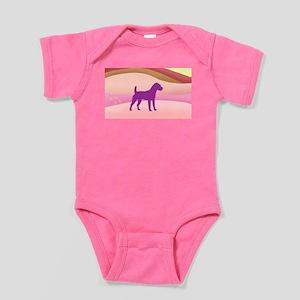 Jack Russell Rainbow Hills Baby Bodysuit