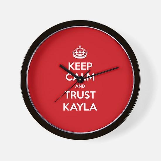 Trust Kayla Wall Clock