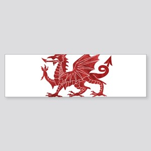 Welsh Red Dragon Bumper Sticker
