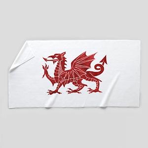 Welsh Red Dragon Beach Towel