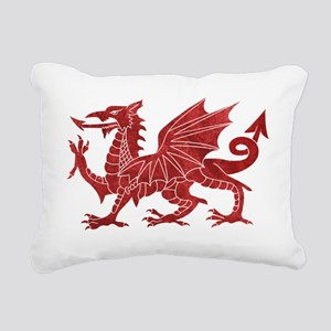 Welsh Red Dragon Rectangular Canvas Pillow
