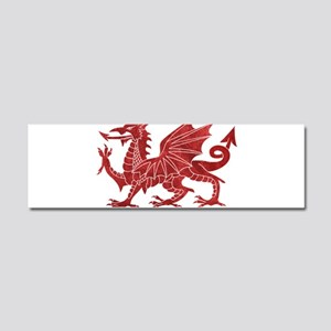 Welsh Red Dragon Car Magnet 10 x 3
